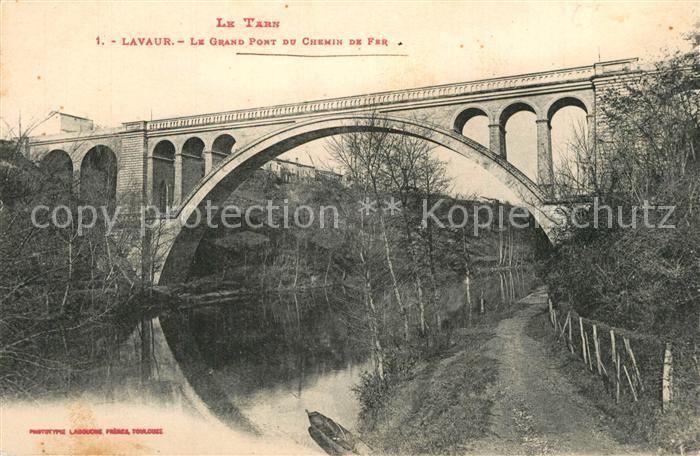 AK / Ansichtskarte Lavaur_Tarn Grand Pont du Chemin de Fer  Lavaur Tarn