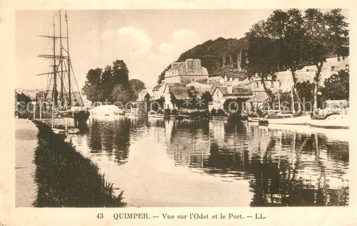 AK / Ansichtskarte Quimper Odet Port  Quimper