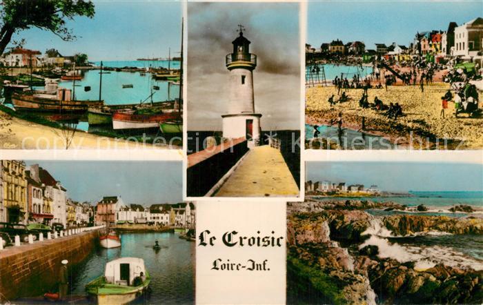 AK / Ansichtskarte Le_Croisic Strand Leuchtturm  Le_Croisic