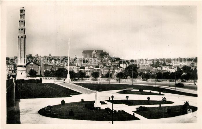 AK / Ansichtskarte Saint Quentin_Aisne Jardin de la Gare Basilique  Saint Quentin Aisne