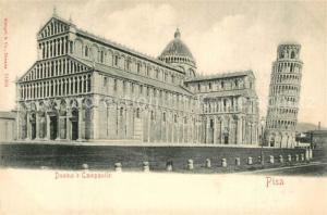 AK / Ansichtskarte Pisa Duomo Campanile  Pisa