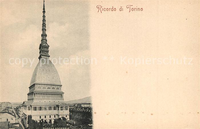 AK / Ansichtskarte Torino Ricordo Nazionale  Torino