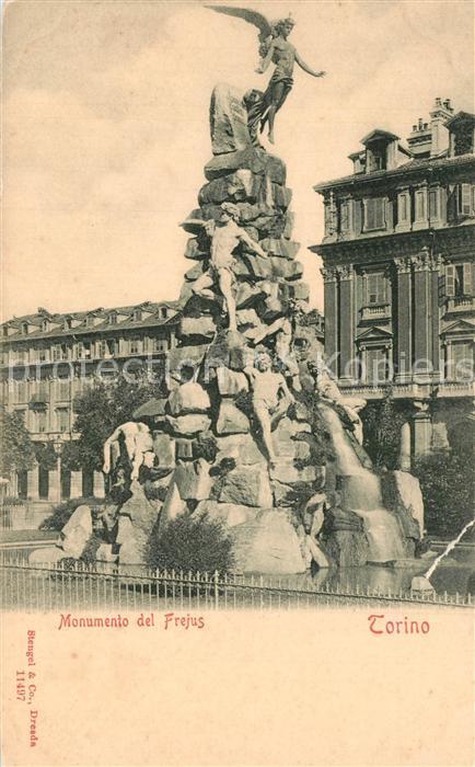 AK / Ansichtskarte Torino Monumento del Frejus Torino