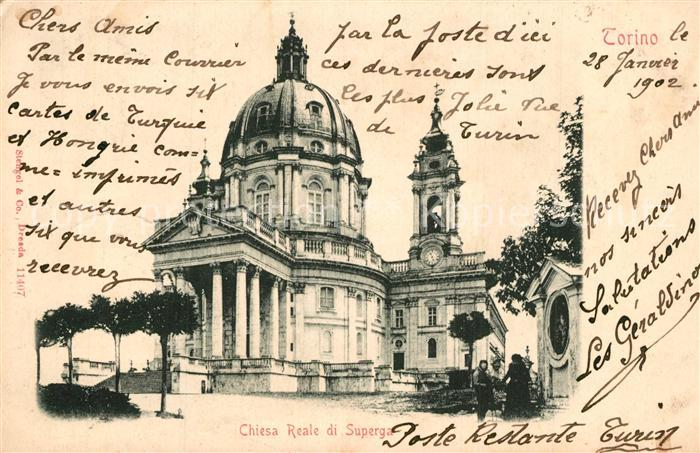 AK / Ansichtskarte Torino Chiesa Reale di Superga Torino