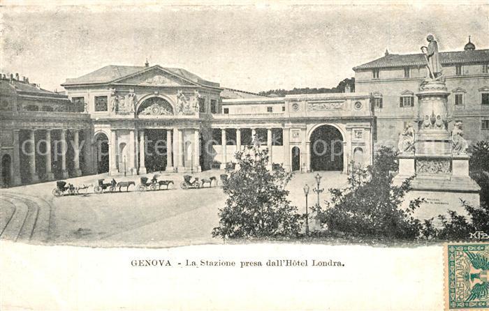 AK / Ansichtskarte Genova_Genua_Liguria Stazione  Genova_Genua_Liguria