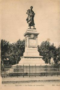 AK / Ansichtskarte Macon_Saone et Loire Statue de Lamartine Macon Saone et Loire