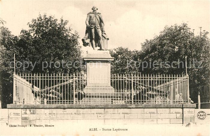 AK / Ansichtskarte Albi_Tarn Statue Laperouse Monument Albi_Tarn