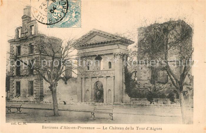 AK / Ansichtskarte La_Tour d_Aigues Ruines du Chateau La_Tour d_Aigues