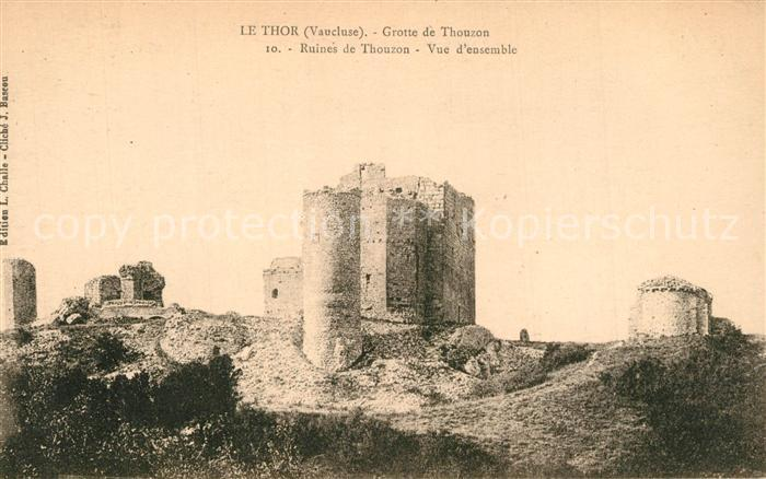 AK / Ansichtskarte Le_Thor Grotte de Thouzon Ruines Le_Thor