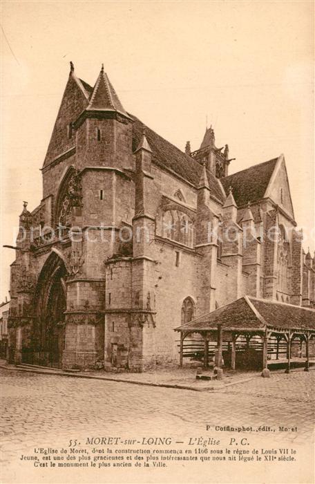 AK / Ansichtskarte Moret sur Loing Eglise Moret sur Loing