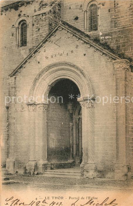 AK / Ansichtskarte Le_Thor Portail de l Eglise Le_Thor