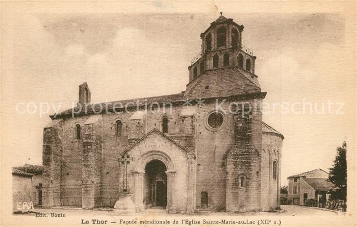 AK / Ansichtskarte Le_Thor Eglise Sainte Marie au Lac XIIe siecle Le_Thor