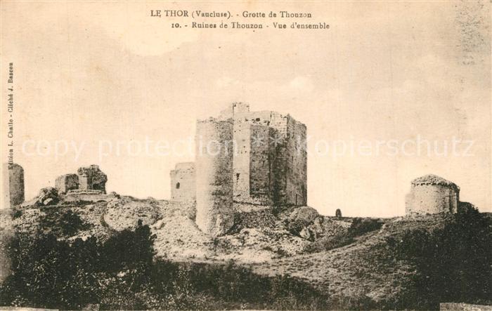 AK / Ansichtskarte Le_Thor Ruines de la Grotte de Thouzon Le_Thor