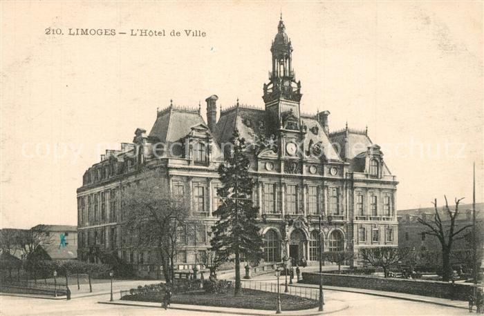 AK / Ansichtskarte Limoges_Haute_Vienne Hotel de Ville Rathaus Limoges_Haute_Vienne