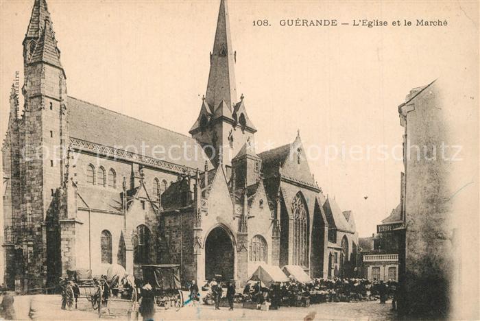 AK / Ansichtskarte Guerande Eglise et le marche Guerande