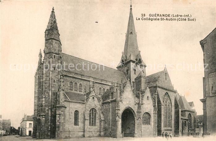 AK / Ansichtskarte Guerande Eglise collegiale Saint Aubin Guerande