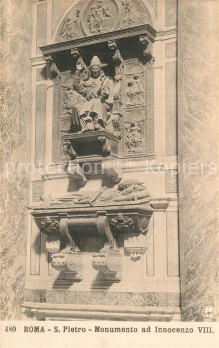 AK / Ansichtskarte Roma_Rom S. Pietro Monumento ad Innocenzo VIII Roma_Rom