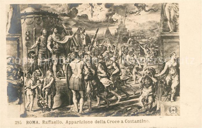 AK / Ansichtskarte Roma_Rom Raffaello Apparizione della Croce a Costantino  Roma_Rom