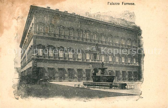 AK / Ansichtskarte Roma_Rom Palazzo Farnese  Roma_Rom