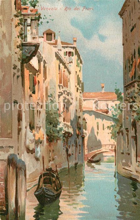 AK / Ansichtskarte Venezia_Venedig Rio dei Frari  Venezia Venedig