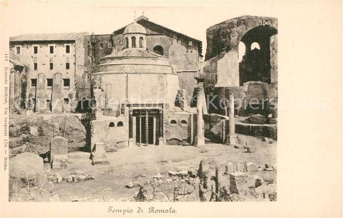 AK / Ansichtskarte Roma_Rom Tempio di Romolo Roma_Rom