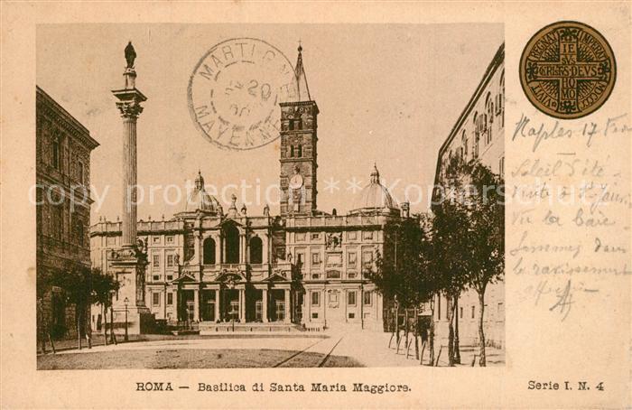 AK / Ansichtskarte Roma_Rom Basilica Santa Maria Maggiore  Roma_Rom