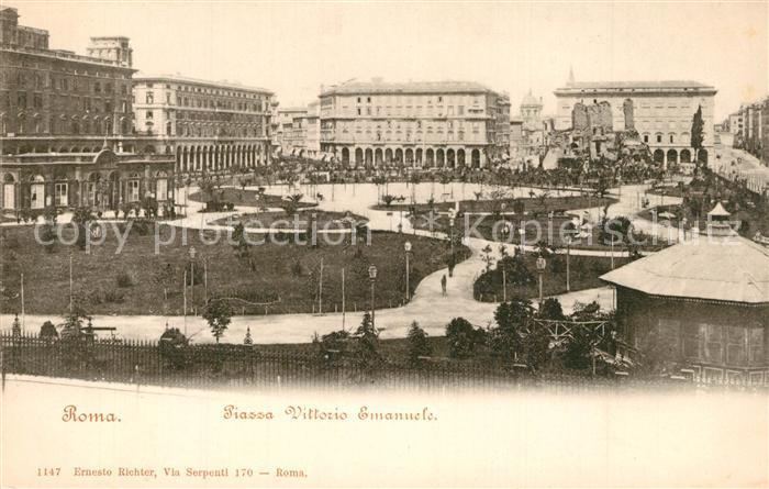 AK / Ansichtskarte Roma_Rom Piazza Vittorio Emanuele Roma_Rom
