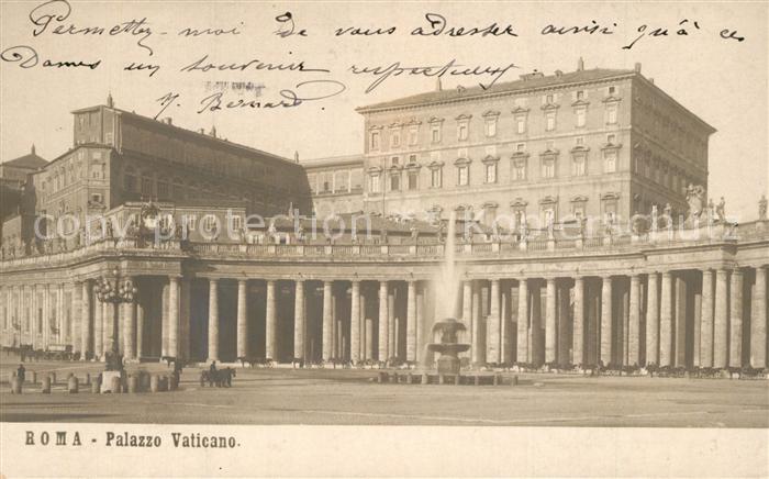 AK / Ansichtskarte Roma_Rom Palazzo Vaticano  Roma_Rom