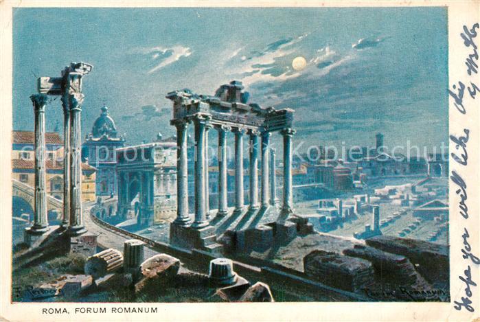 AK / Ansichtskarte Roma_Rom Forum Romanum  Roma_Rom