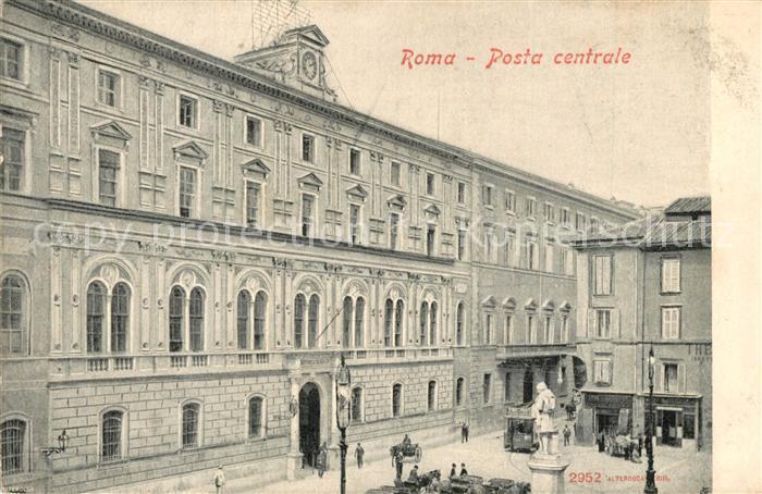 AK / Ansichtskarte Roma_Rom Posta centrale Roma_Rom