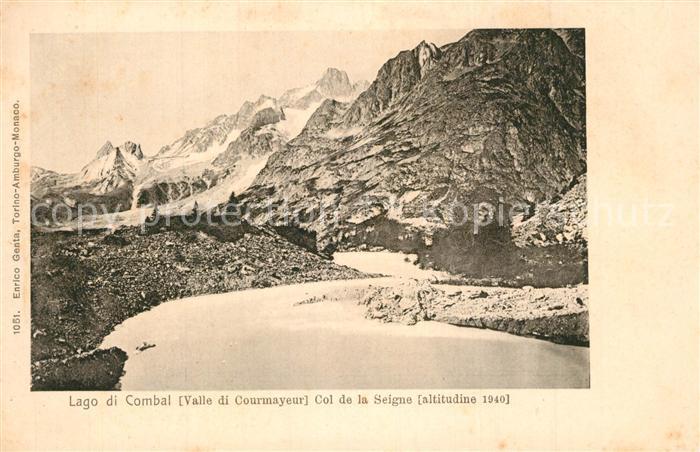 AK / Ansichtskarte Lago_di_Combal Col de la Seigne
