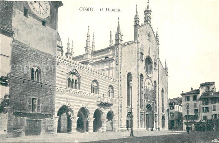 AK / Ansichtskarte Como_Lago_di_Como Duomo Como_Lago_di_Como