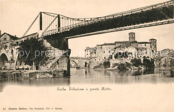 AK / Ansichtskarte Isola_Tiberina Ponte Rotto