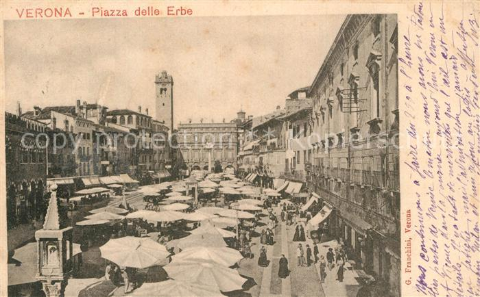 AK / Ansichtskarte Verona_Veneto Piazza delle Erbe  Verona Veneto