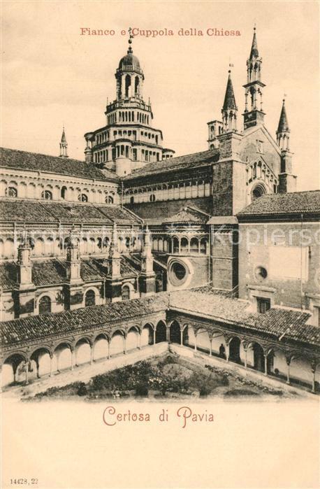 AK / Ansichtskarte Certosa_di_Pavia Cuppola della Chiesa  Certosa_Di_Pavia