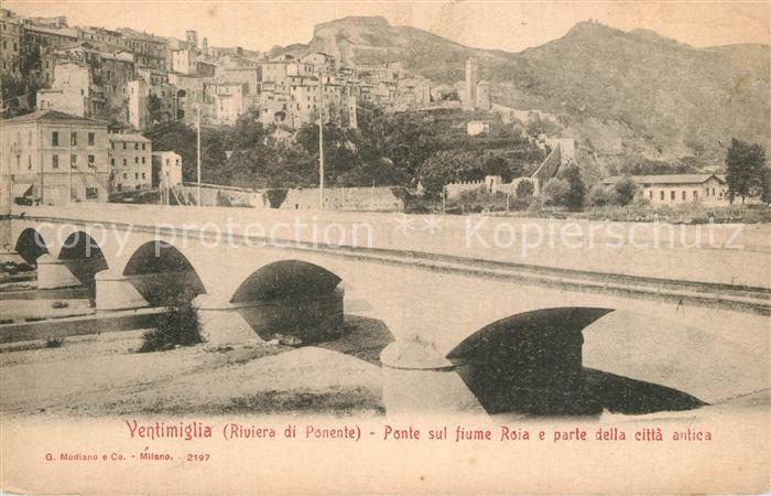 AK / Ansichtskarte Ventimiglia_Liguria Ponte sul fiume Roia