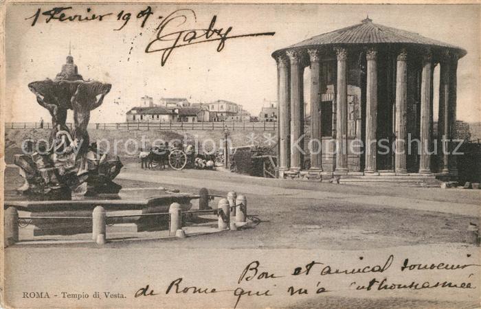 AK / Ansichtskarte Roma_Rom Tempio di Vesta  Roma_Rom