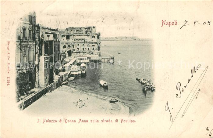 AK / Ansichtskarte Napoli_Neapel Palazzo di Donna Anna Strada di Posillipo Napoli Neapel