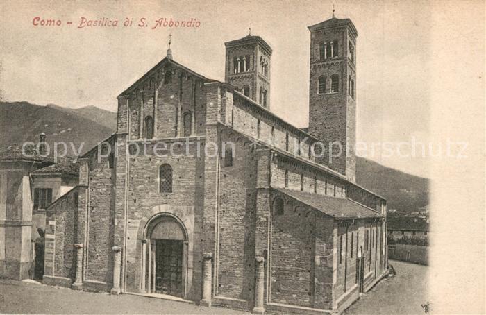 AK / Ansichtskarte Como_Lago_di_Como Basilica S. Abbondio Como_Lago_di_Como