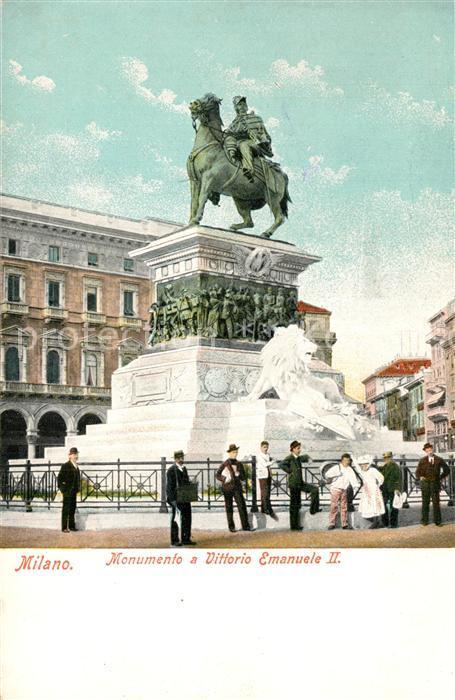 AK / Ansichtskarte Milano Monumento a Vittorio Emanuele II Milano