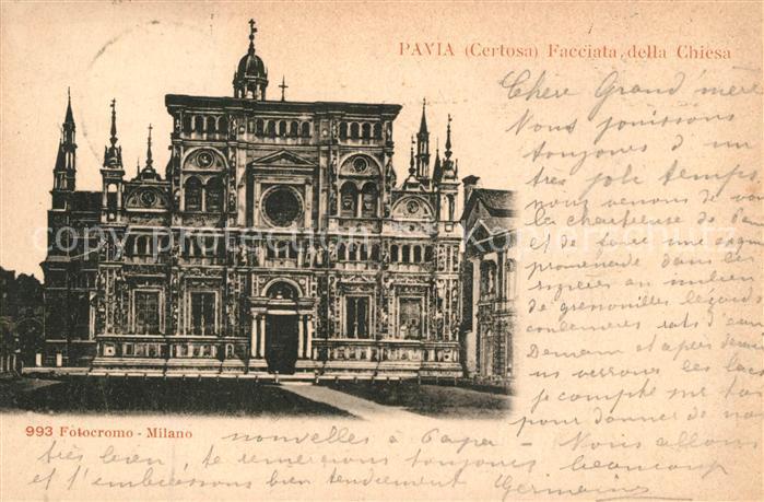AK / Ansichtskarte Certosa_di_Pavia Chiesa Certosa_Di_Pavia