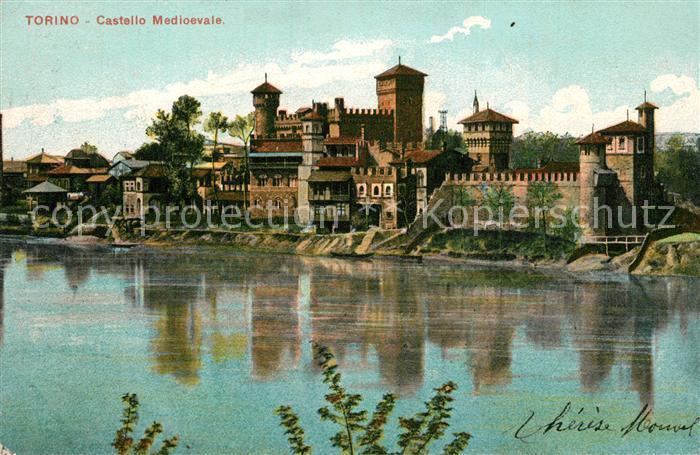 AK / Ansichtskarte Torino Castello Medioevale  Torino