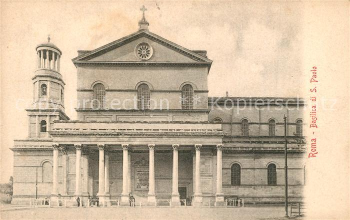 AK / Ansichtskarte Roma_Rom Basilica di San Paolo Roma_Rom
