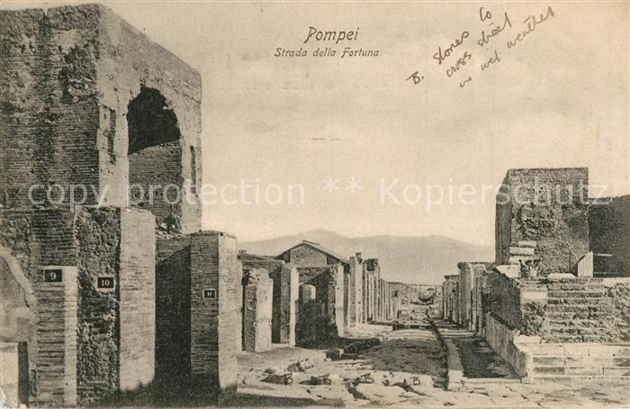AK / Ansichtskarte Pompei Strada della Fortuna Pompei