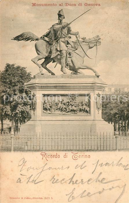 AK / Ansichtskarte Torino Monumento al Duca di Genova  Torino