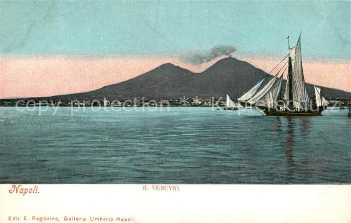AK / Ansichtskarte Napoli_Neapel Vesuvio Segelschiff  Napoli Neapel