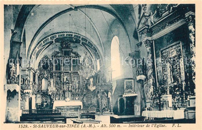 AK / Ansichtskarte Saint Sauveur sur Tinee Eglise Interieur  Saint Sauveur sur Tinee