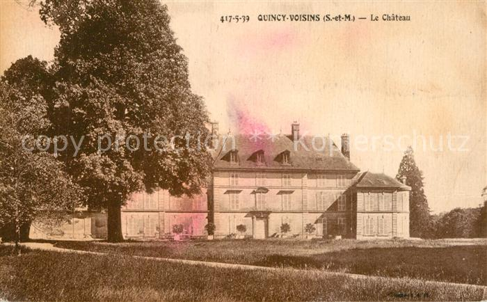 AK / Ansichtskarte Quincy Voisins Chateau  Quincy Voisins
