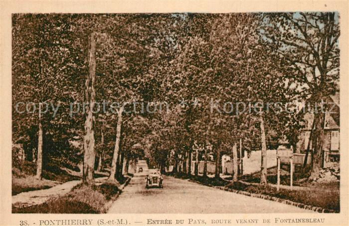 AK / Ansichtskarte Ponthierry Route venant de Fontainebleau