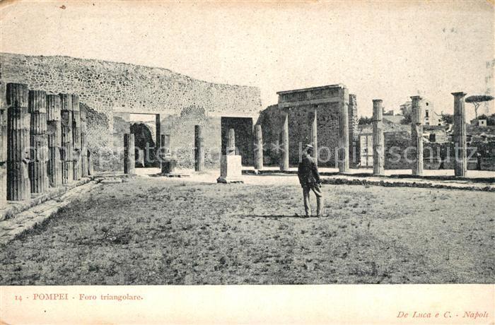 AK / Ansichtskarte Pompei Foro Triangolare Pompei